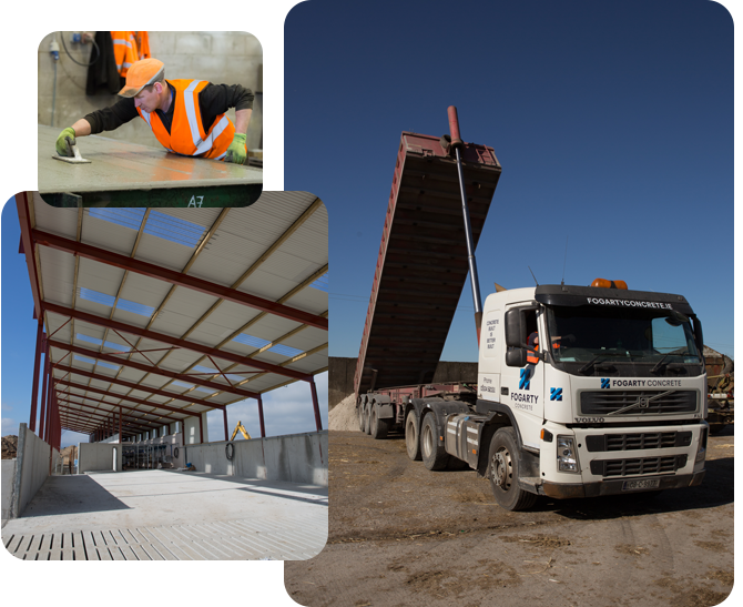 Precast concrete agricultural products Fogarty Concrete - cattle slats, tractor slats, cubicle walls, feed walls, hollow core flooring